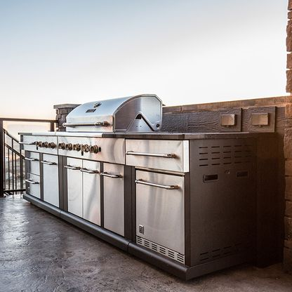 BBQ unit on patio