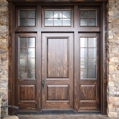 Big wooden entrance door