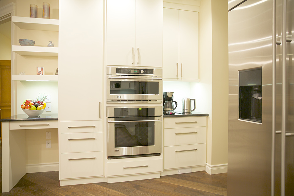 White kitchen with oven
