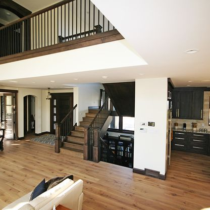 Living room with loft