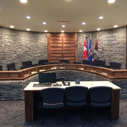 Municipal District of Chamber meeting room
